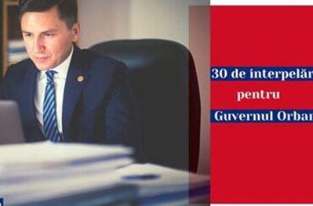 Constantin Codreanu / 30 de interpelări pentru Guvernul Orban